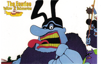 Beatles Blue Meanie Postcard