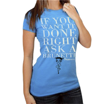 Buy Done Right Blue T-Shirt by Betty Boop