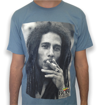 Bob Marley Close Up Smoking