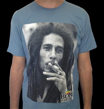 Buy Close Up Smoking T-Shirt by Bob Marley