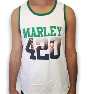 Buy 420 Tank Top T-Shirt by Bob Marley