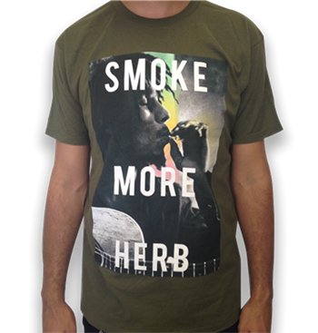 Buy Smoke More Herb T-Shirt by Bob Marley