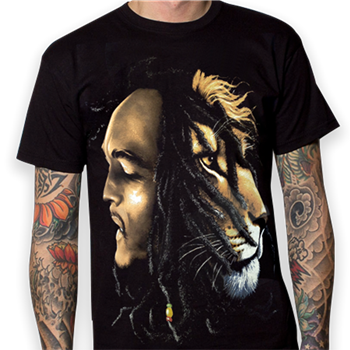 Buy Lion Face T-Shirt by Bob Marley