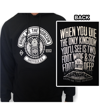 Bring Me The Horizon Sheffield UK Pullover Hoodie