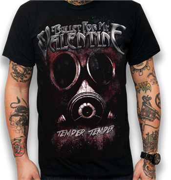 Buy Gas Mask T-Shirt by Bullet For My Valentine