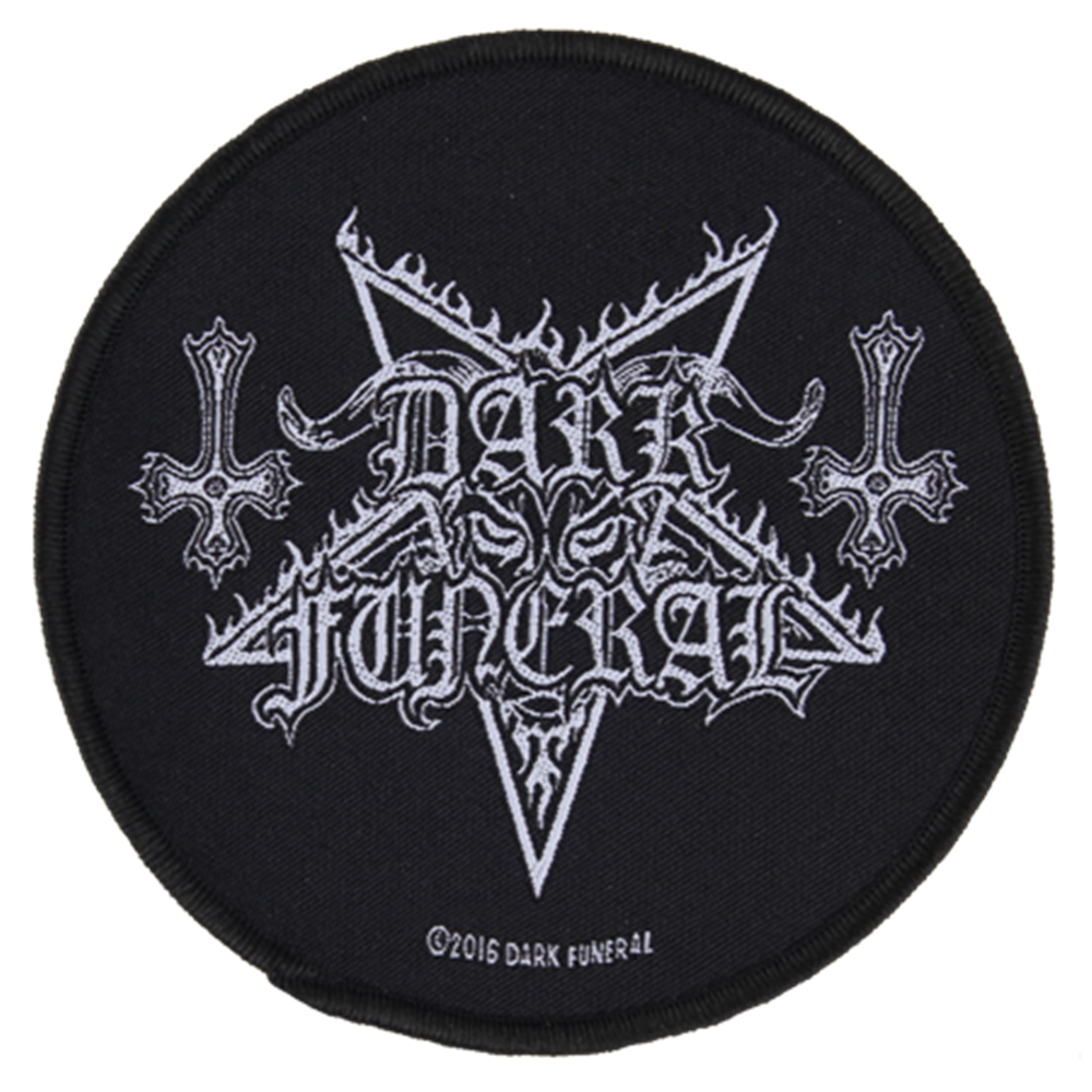 Pentagram Logo With Inverted Crosses Patch