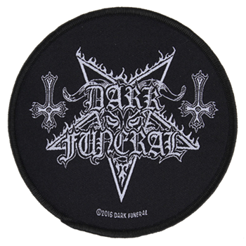 Dark Funeral Pentagram Logo With Inverted Crosses Patch