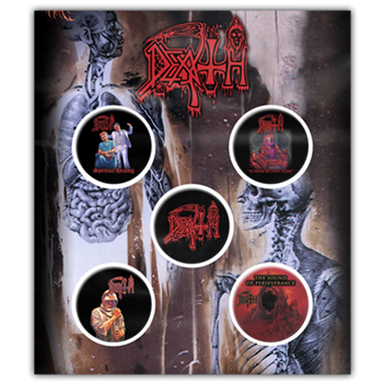Death Logo / Album Covers Button Pin Set