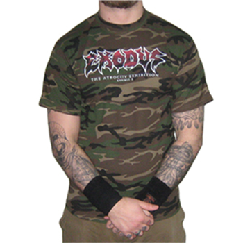 Buy Camouflage Exhibit T-Shirt by Exodus
