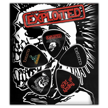 The Exploited Punk's Not Dead Guitar Pick Set