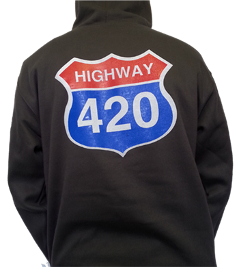 Generic Highway 420 Pullover Hoodie (pocket logo front)