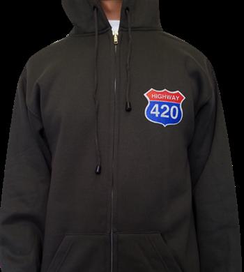 Buy Highway 420 Zip Hoodie by Generic