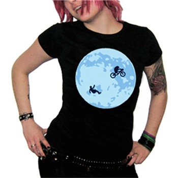 Generic Over The Moon Black T-Shirt