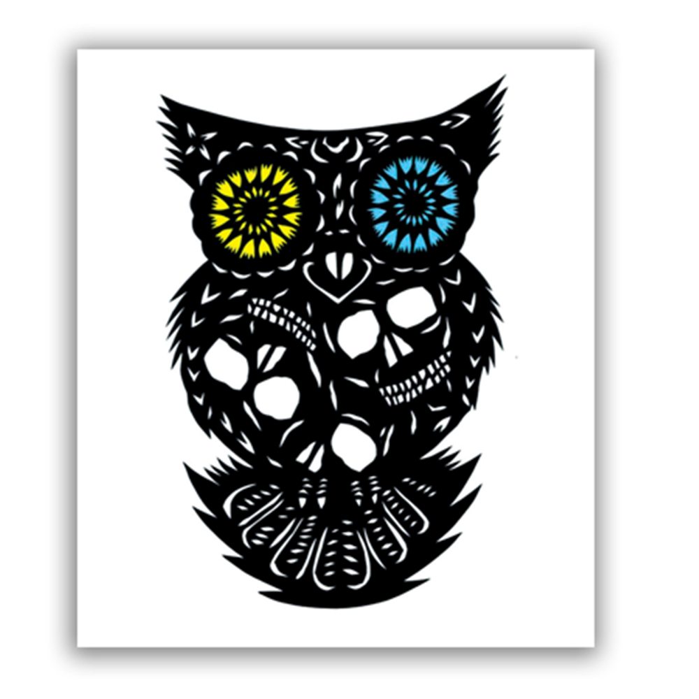 Owl Of The Dead Sticker