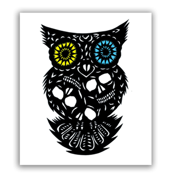 Buy Owl Of The Dead Sticker by Generic