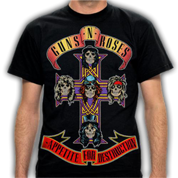 Buy AFD CROSS T-Shirt by Guns 'n' Roses