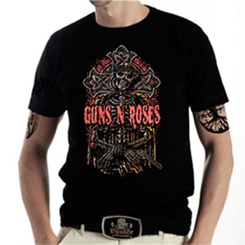 Buy Skull On Cross T-Shirt by Guns 'n' Roses