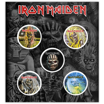 Iron Maiden Eddie Close-Ups Button Pin Set