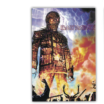 Iron Maiden Wicker Man Postcard