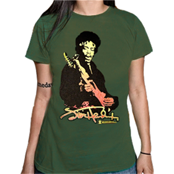 Jimi Hendrix Sunset Blend Green T-Shirt