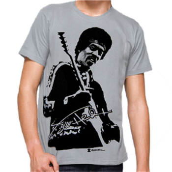 Jimi Hendrix Jumbo Photo Grey T-Shirt