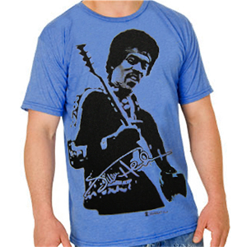 Jimi Hendrix Jumbo Photo Blue