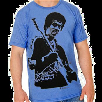 Buy Jumbo Photo Blue T-Shirt by Jimi Hendrix