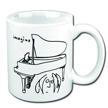 Buy Piano Sketch Mug by John Lennon