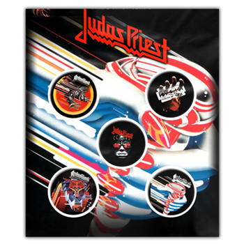 Judas Priest Classic Albums Button Pin Set