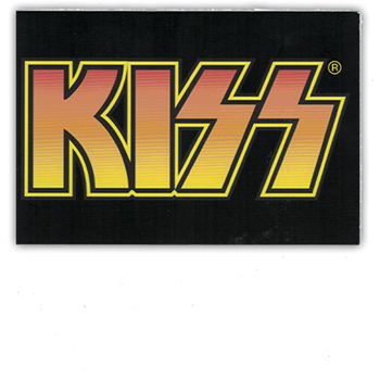 KISS Orange Logo Postcard