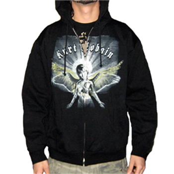 Buy Angel Zip Hoodie by Kurt Cobain