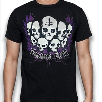 Buy Skulls T-Shirt by Lacuna Coil