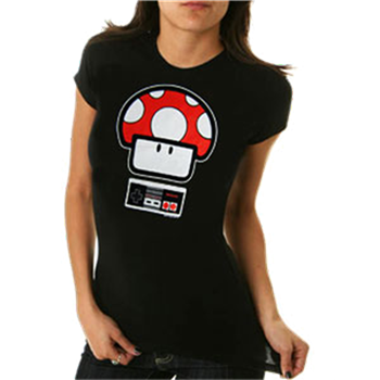 Buy Mushroom Controller T-Shirt by Mario Bros