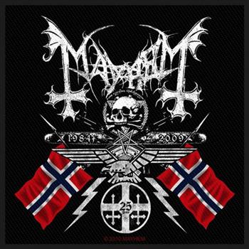 Mayhem Norwegian Flags Patch