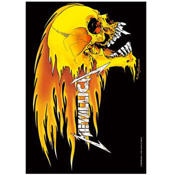 Metallica Flaming Skull