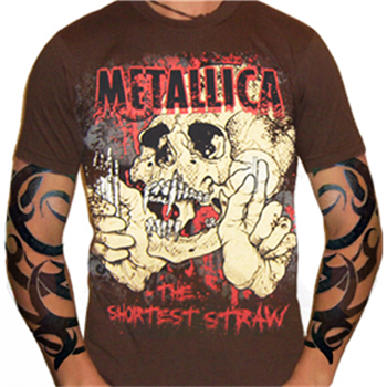 Metallica Brown Straw