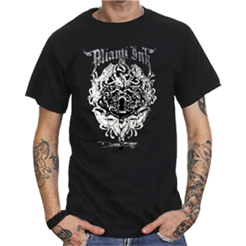 Buy Keyhole Flowers T-Shirt by Miami Ink