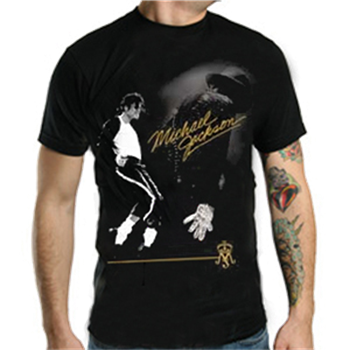 Buy Gold Sig And Crest T-Shirt by Michael Jackson