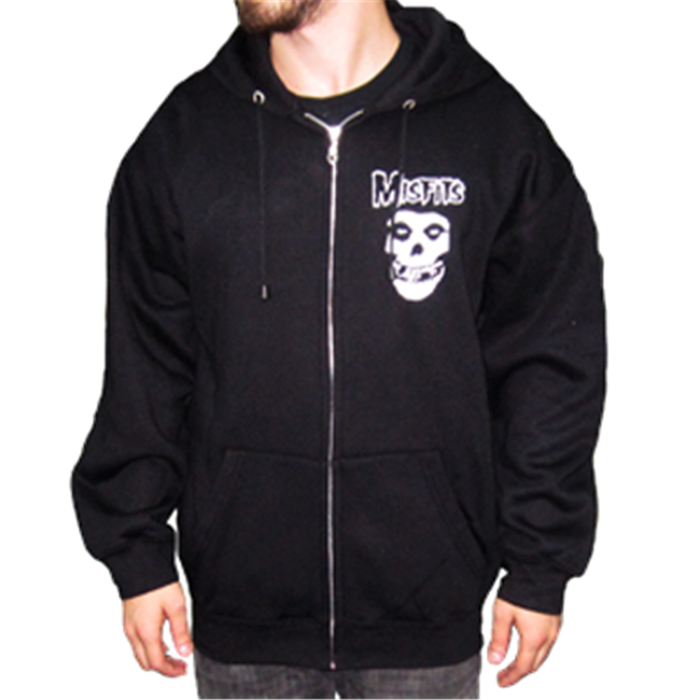 Classic Skull Zip Hoodie (big skull print on back)