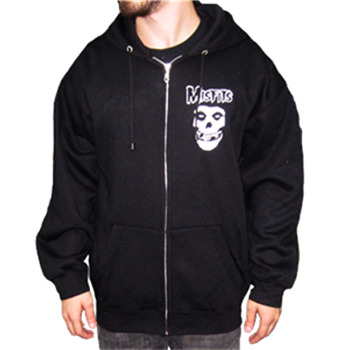 Buy Classic Skull Zip Hoodie (big skull print on back) by Misfits