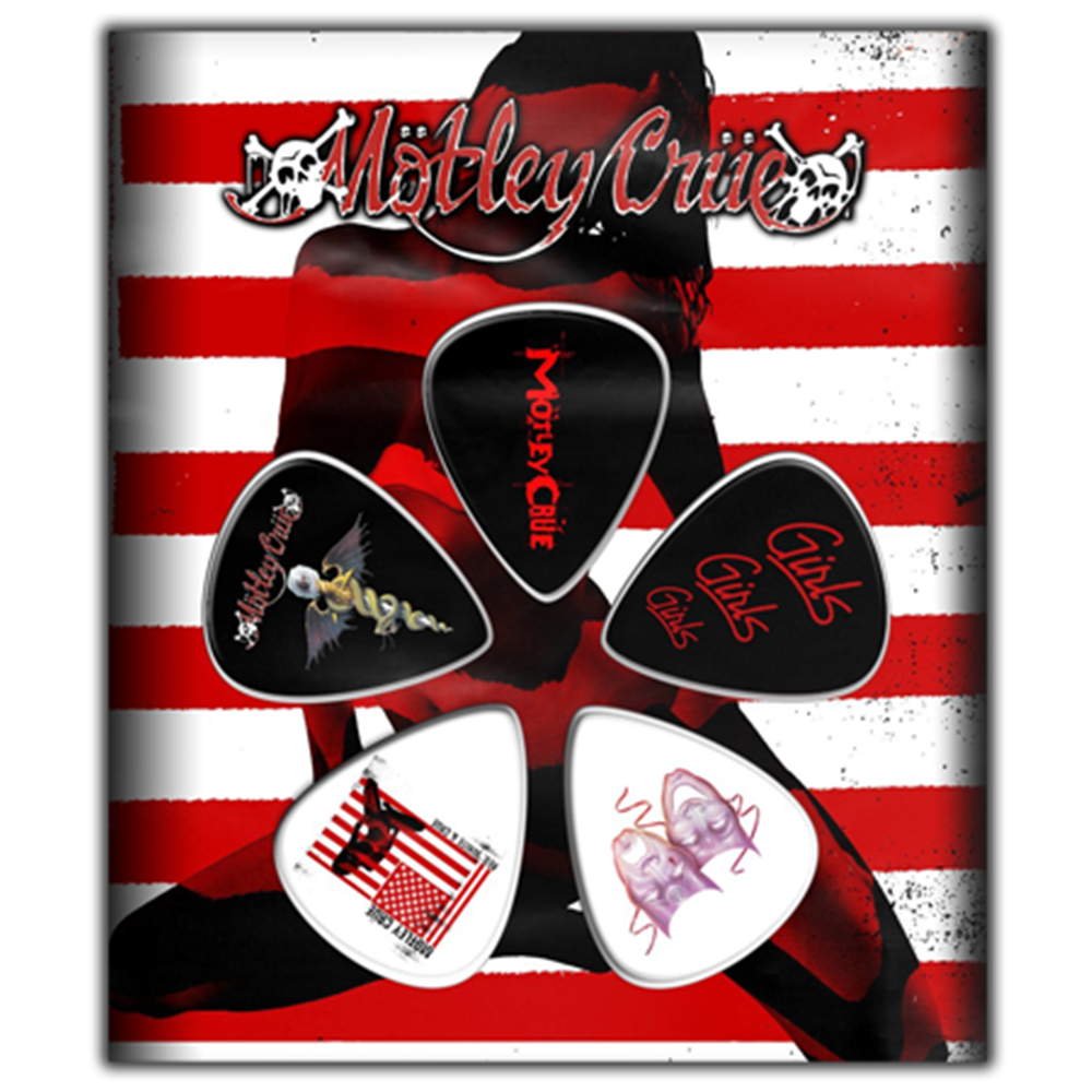 Red, White & Crue Guitar Pick Set