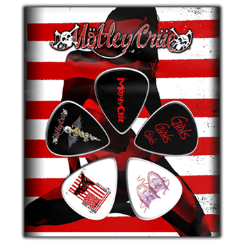 Motley Crue Red, White & Crue Guitar Pick Set