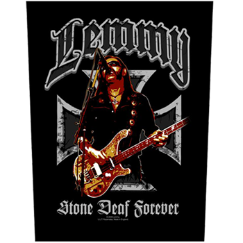 Motorhead Lemmy Stone Deaf Forever Backpatch
