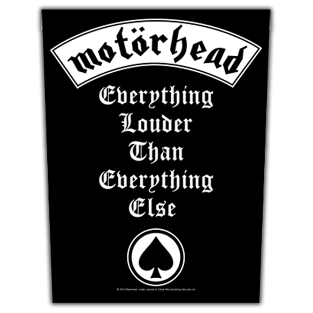 Everything Louder Than Everything Else Backpatch