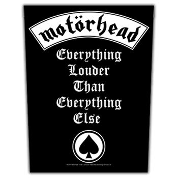 Motorhead Everything Louder Than Everything Else Backpatch