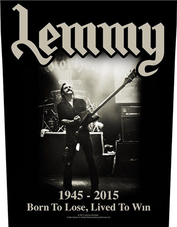 Motorhead Lemmy 1945-2015 Backpatch