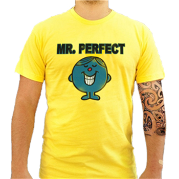 Buy Mr. Perfect Yellow T-Shirt by Mr. Men