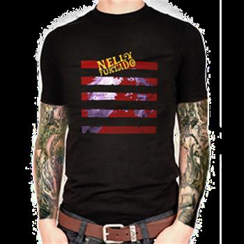 Nelly Furtado Red Stripes T-Shirt