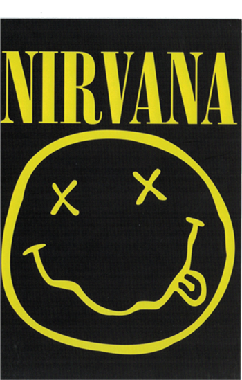Nirvana Smiley Face Postcard