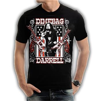 Buy Dimebag Guitars/Flag T-Shirt by Pantera